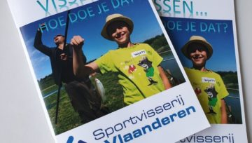Op de cover van Sportvisserij Vlaanderen