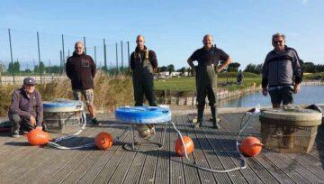 Nieuwe beluchtingspomp en zuurstofpomp voor grasduinvissers Bredene september 2020